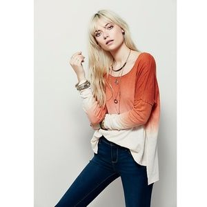 Free People Ombre Starry Night Dip Dye Top Small